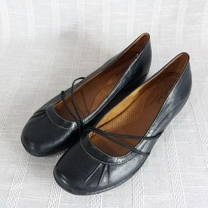 Natural Soul Nerman Black Leather Loafers 8.5